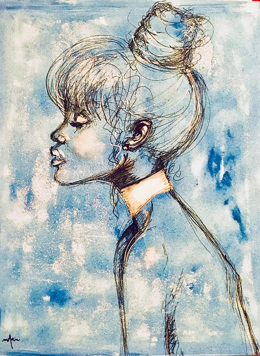 Peinture Acrylique femme Moon Light