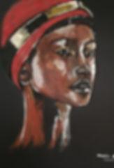 Peinture Acrylique femme Enk'Aï