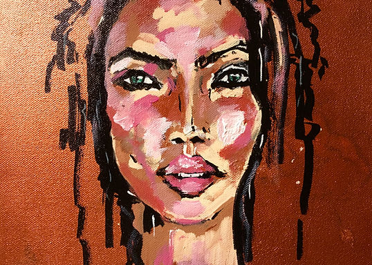 Peinture Acrylique femme gitane