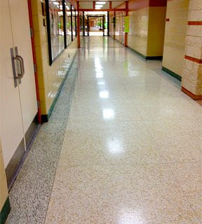 Shiny floors are much better to walk on!