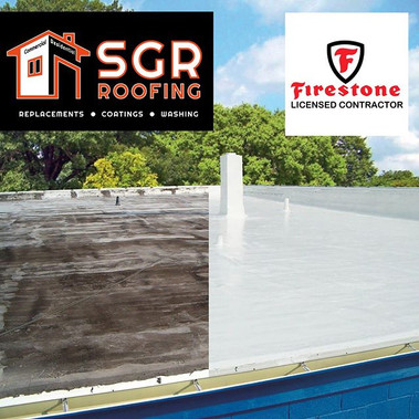 Before and After Silicone roofing