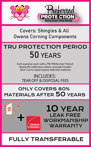 Roofing Warranty Information about lifetime shingles and 10 year leak free roof warranty. 10 year workmanship warranty. available with full roof replacements.