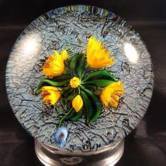 Fleurs oranges (vendu)