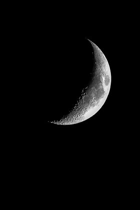 POCA POSTCARD moon   black white   Moonshines