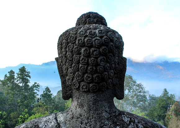 POCA POSTCARD buddha   black white   Namasté