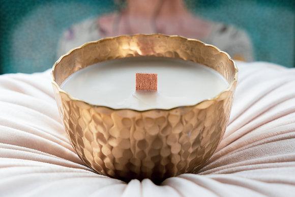 POCA INTERIOR | Wood Wicked vegan candle - GOLD