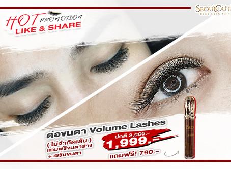 ดีลคุ้ม ตุนด่วน! ต่อขนตา Volume Lash extensions  ราคา 999 ฿ ราคาปกติ 1,999.00บาท by SC