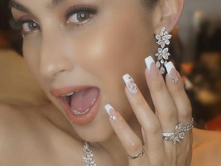 Wedding nails art ideas ไอเดียทำเล็บสวยในวันแต่งงาน by SC