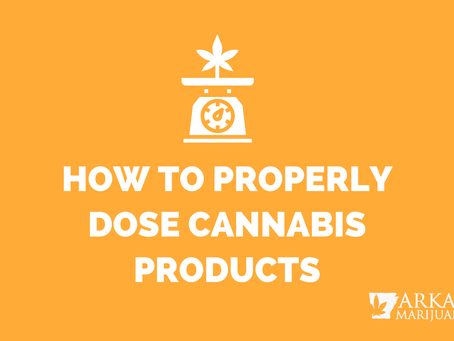 Arkansas Marijuana Card Guide – How To Properly Dose Cannabis Products