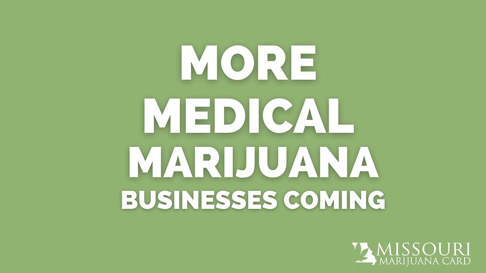 more medical marijuana businesses coming