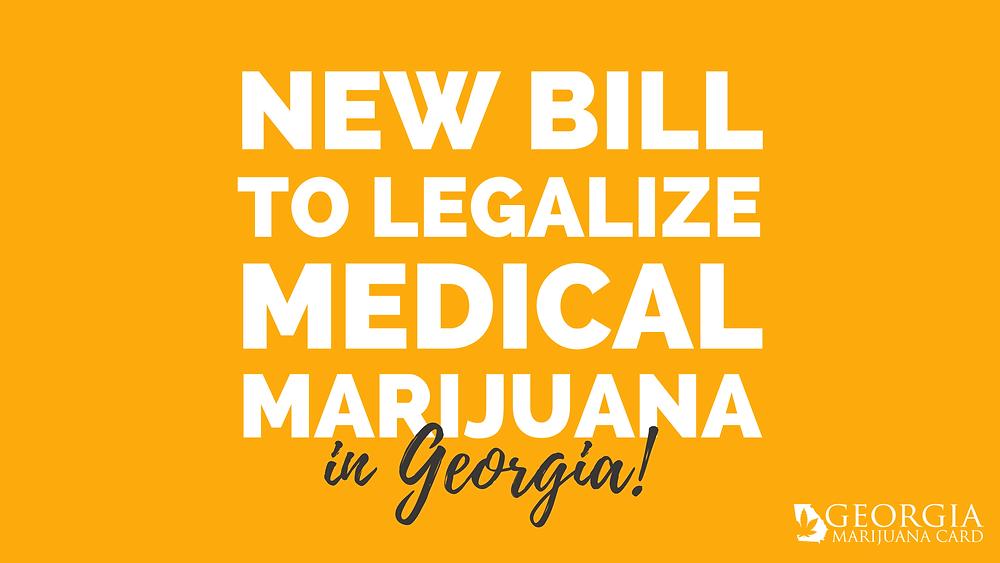 new bill to legalize medical marijuana in Georgia