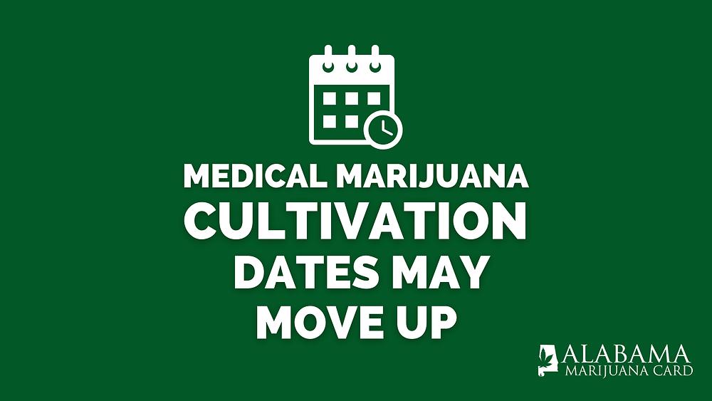 Medical marijuana cultivation dates may move up