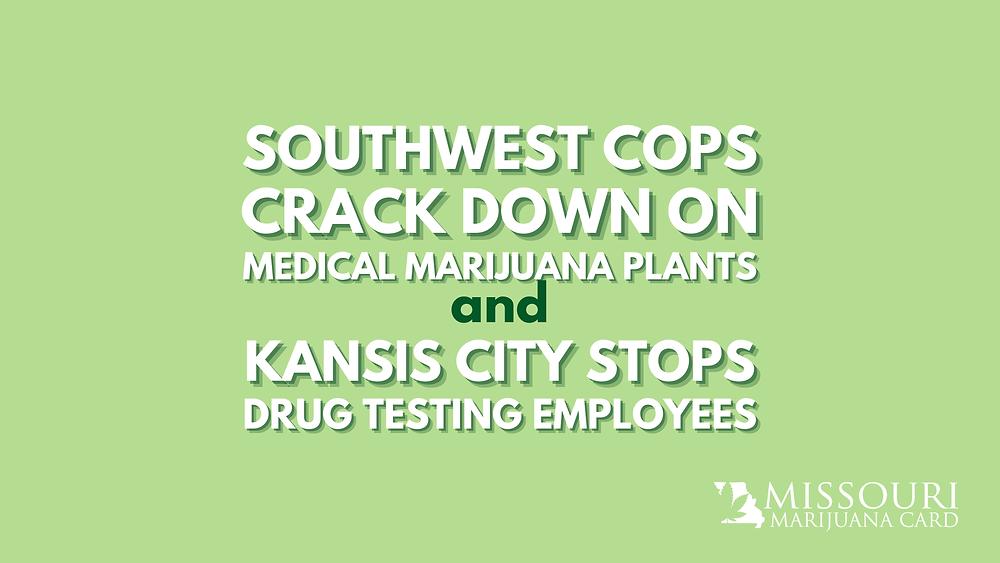 Southwest Cops crack down on medical marijuana plants and Kansas city stops drug testing employees