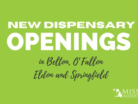 Missouri Cannabis Dispensary Openings on Belton, Eldon, O'Fallon and Springfield!