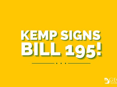 Governor Brian Kemp Signs Senate Bill 195