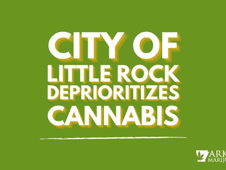 Arkansas Cannabis News: City of Little Rock Deprioritizes Cannabis