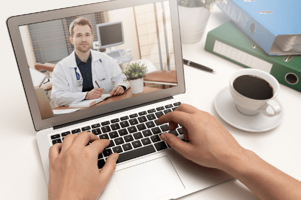 Scheduling Marijuana Appointment On Laptop