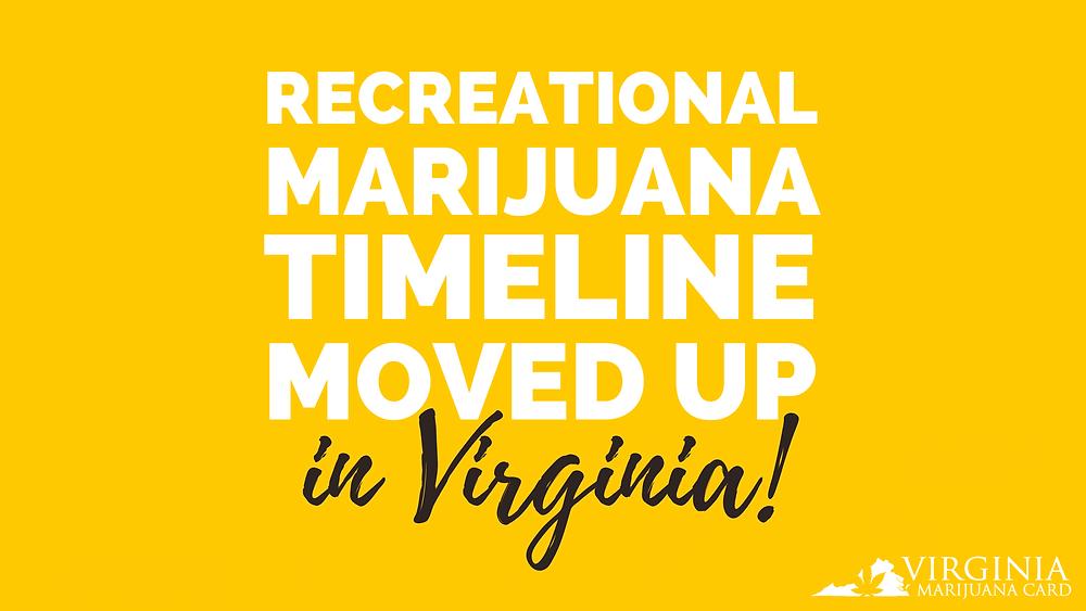 recreational marijuana timeline moved up in Virginia