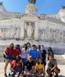 Dorson student pictured in Italy with Student Diplomacy Corps