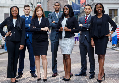 young black and hispanic professionals