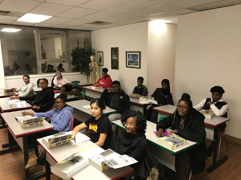Students of SAT Prep Session at Dorson Community Foundation