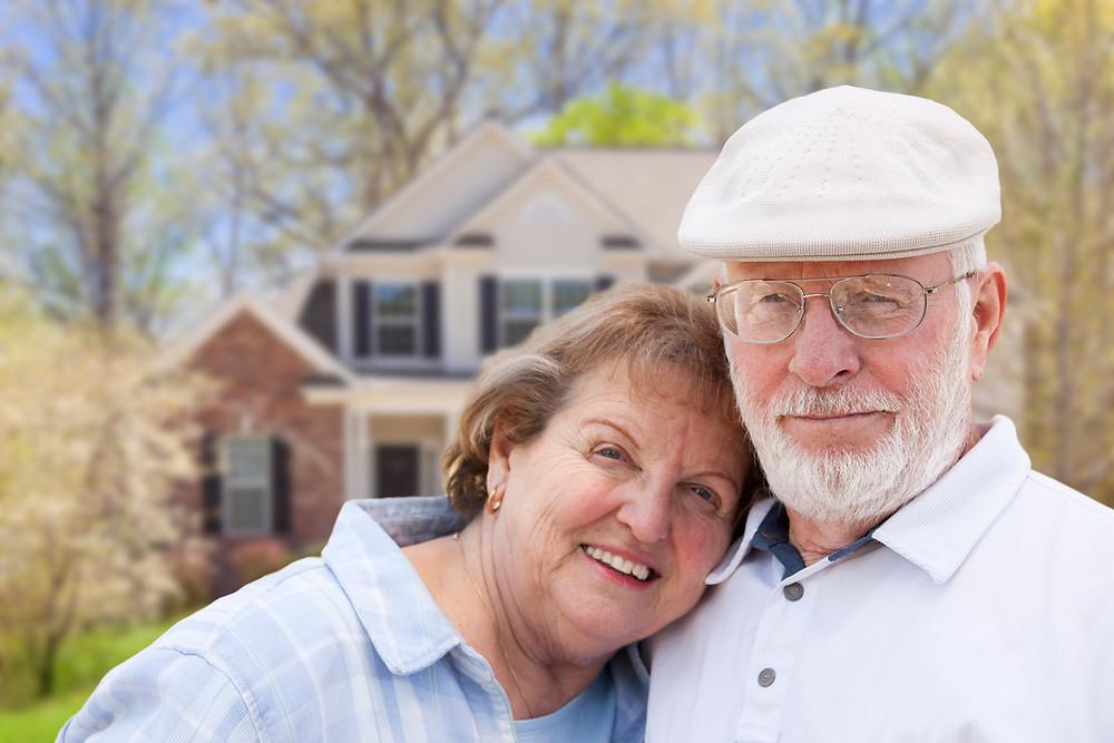 Seniors/Elders in front of home