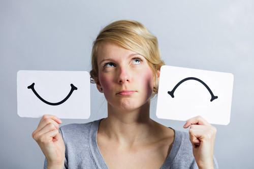 woman with mood swings like Alzheimer's Disease
