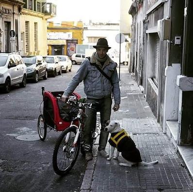 Parcours de la côte Uruguayenne en vélo avec Milan.
