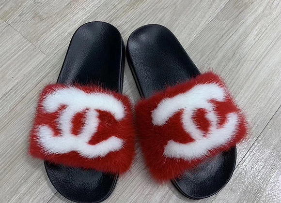 CC Mink Slides RED