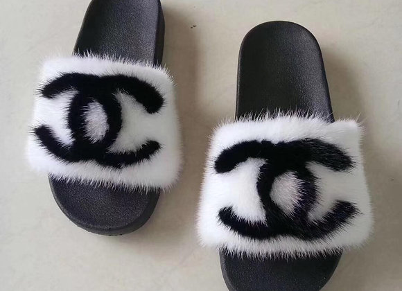 CC Mink Slides WHITE