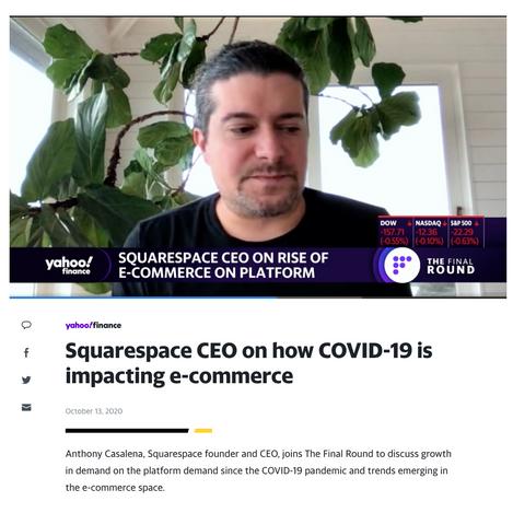 Squarespace CEO on Yahoo Finance