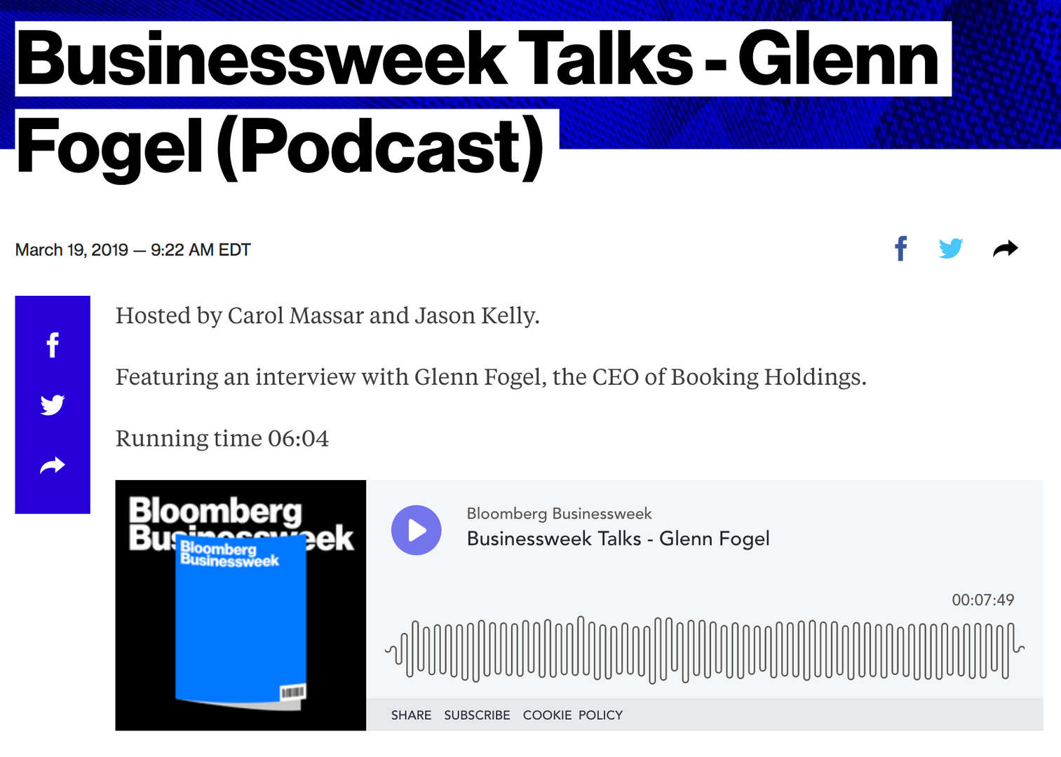 Businessweek Talks Podcast