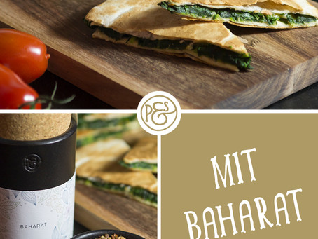 Spinat Quesadillas mit unserem Baharat!