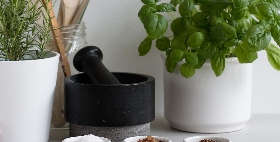 Servierbrett Eiche für 3 kleine Servierschälchen
