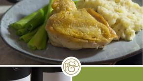 Maishähnchen mit Koriander-Kartoffelüpüree