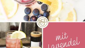 Sommer Limo mit Blaubeeren und Lavendelblüten!