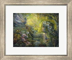 dryad-and-the-dragonfly-framed-art-print