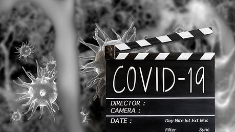VIRUS text title on film slate and  coro