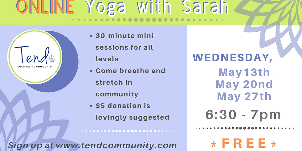May ONLINE Yoga with Sarah