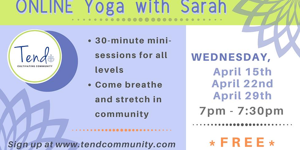 ONLINE Yoga with Sarah