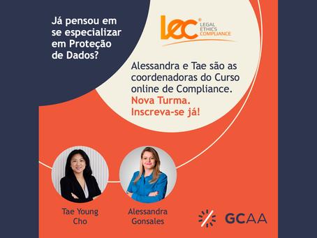 Alessandra e Tae são as coordenadoras do Curso online de Compliance em Proteção de Dados da LEC