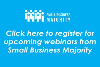 Register for upcoming webinars from Small Business Majority