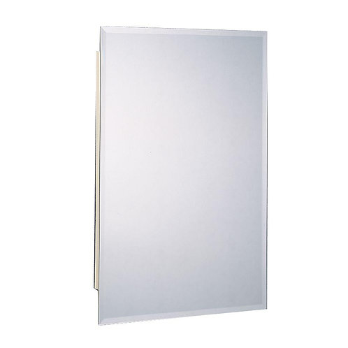 6 in. W x 26 in. H Frameless Beveled Mirrored Recessed Mount Medicine Cabinet in