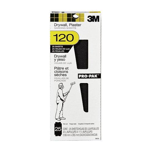 4-3/16 in. x 11-1/4 in. 120 Grit Fine Drywall Sanding Sheet (25-Pack)