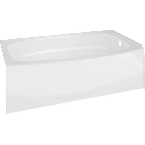 60 in. Right Drain Rectangular Alcove Bathtub in White
