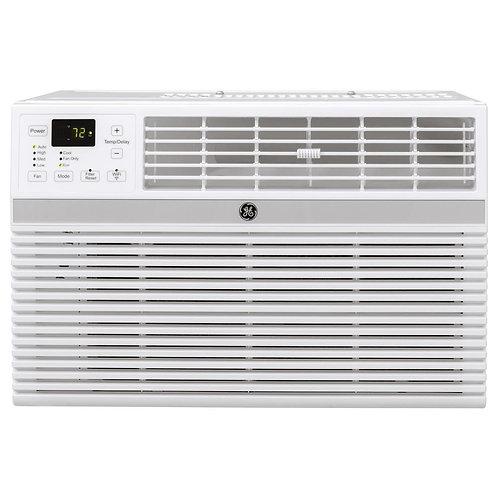 GE 14,000 BTU 115-Volt Smart Window Air Conditioner with Remote in Gray