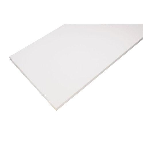 12 in. x 48 in. White Laminated Wood Shelf