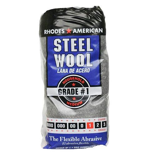 Homax #1 12 Pad Steel Wool, Medium Grade
