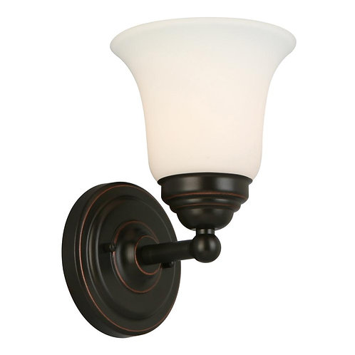 Hampton Bay Ashhurst 1-Light Oil Rubbed Bronze Wall Sconce
