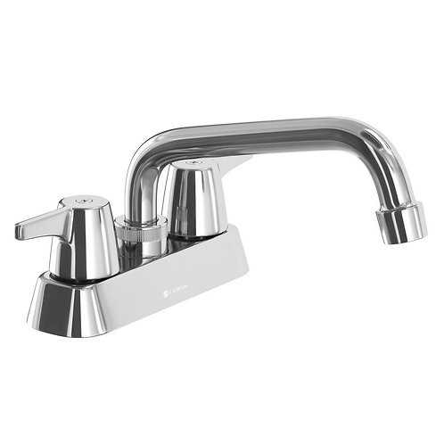 Glacier Bay Aragon 4 in. Centerset 2-Handle Laundry Faucet in Chrome